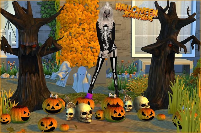 Sims 4 Collection Happy Halloween (Deco & Chair 10 items) at Jenni Sims