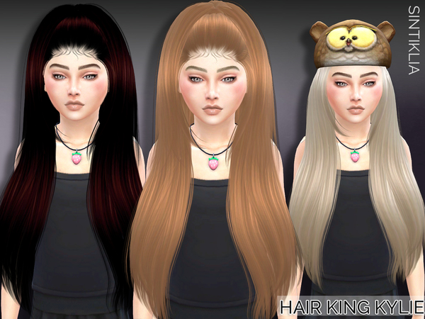 Child hair King Kylie by Sintiklia at TSR image 1848 Sims 4 Updates