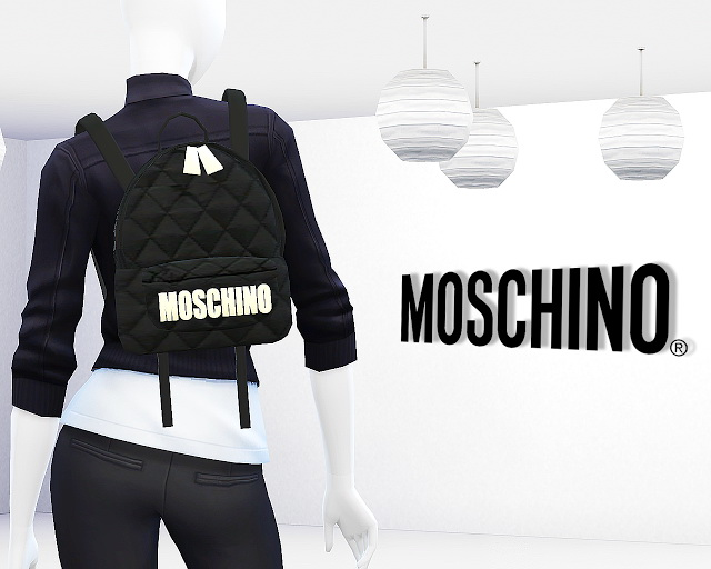 Quilted Fabric Backpack By Mrantonieddu At Ma Ims4 187 Sims
