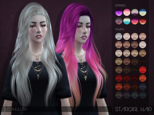 Sims 4 Stargirl Hair by Leah Lillith at TSR