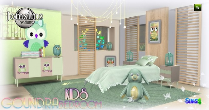 Goundra Kids bedroom at Jomsims Creations image 1893 670x355 Sims 4 Updates