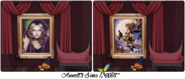 Sims 4 Witches Paintings at Annett's Sims 4 Welt