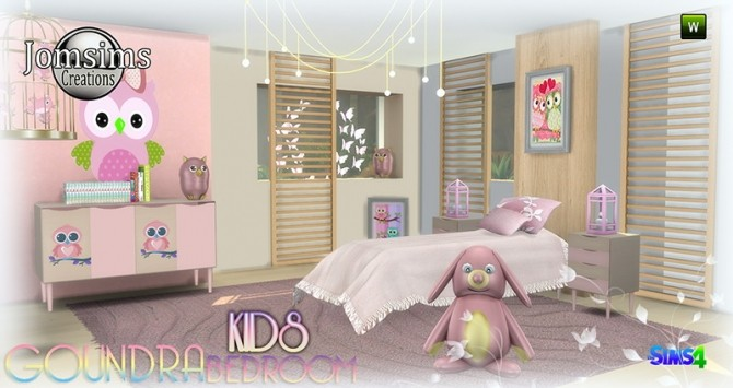 Goundra Kids bedroom at Jomsims Creations image 1903 670x355 Sims 4 Updates