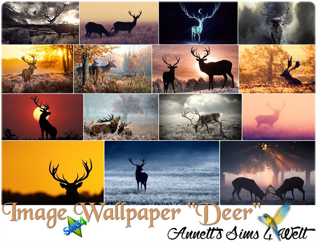 Deer Image Wallpapers at Annett's Sims 4 Welt image 19210 Sims 4 Updates
