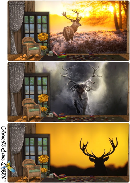 Deer Image Wallpapers at Annett's Sims 4 Welt image 1936 Sims 4 Updates