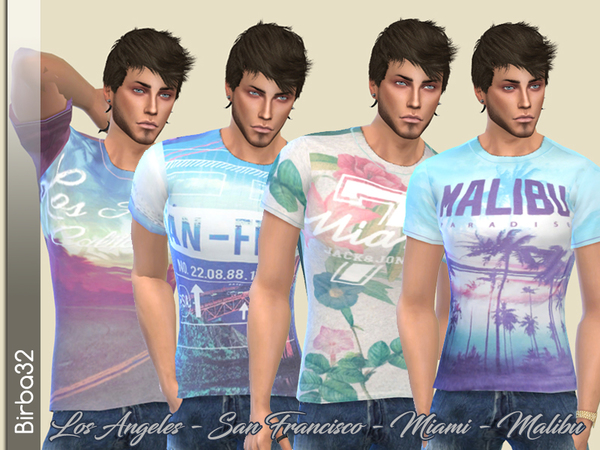 Sims 4 In the city man t shirts by Birba32 at TSR