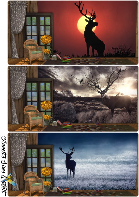 Deer Image Wallpapers at Annett's Sims 4 Welt image 1946 Sims 4 Updates