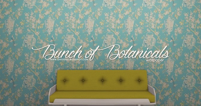 Bunch Of Botanical Wallpapers At Onyx Sims Sims 4 Updates