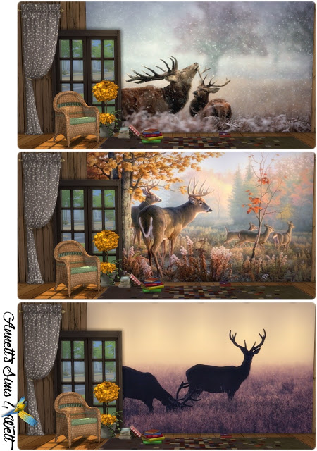 Deer Image Wallpapers at Annett's Sims 4 Welt image 1956 Sims 4 Updates