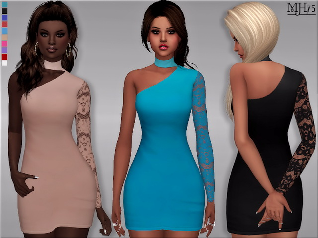 Motivated Dress by Margeh75 at Sims Addictions image 1966 Sims 4 Updates