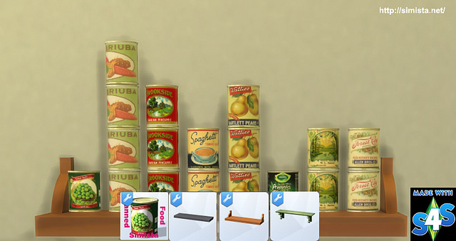 Canned Food deco and slot override at Simista image 1992 Sims 4 Updates