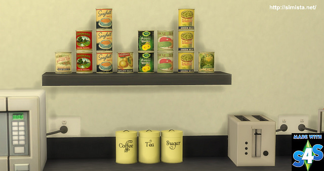 Canned Food deco and slot override at Simista image 2002 Sims 4 Updates
