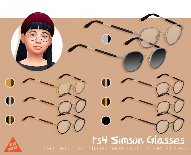 Simson Glasses at Tamo image 2003 670x543 Sims 4 Updates