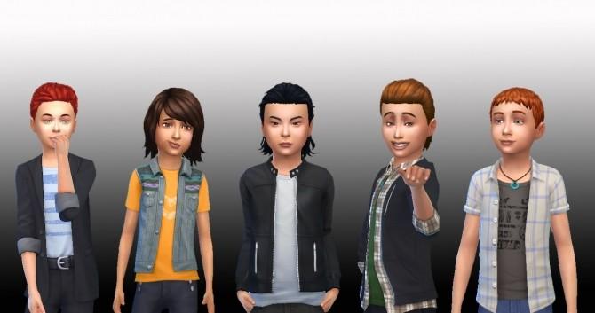 Sims 4 Boys Hair Pack at My Stuff