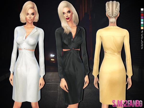233 Satin medium dress by sims2fanbg at TSR image 2026 Sims 4 Updates