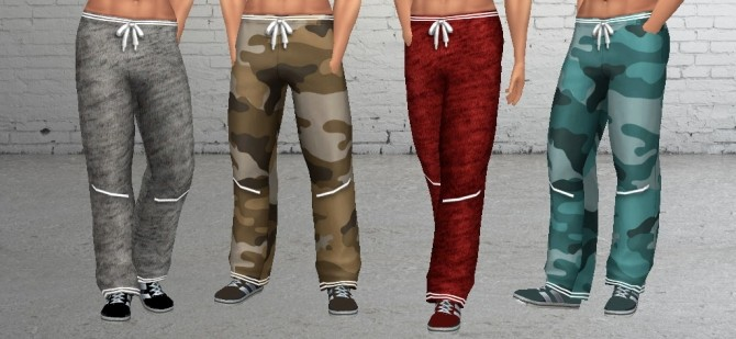 Sims 4 MP Loose Fit Stylish Lace Up Sweatpants at BTB Sims – MartyP