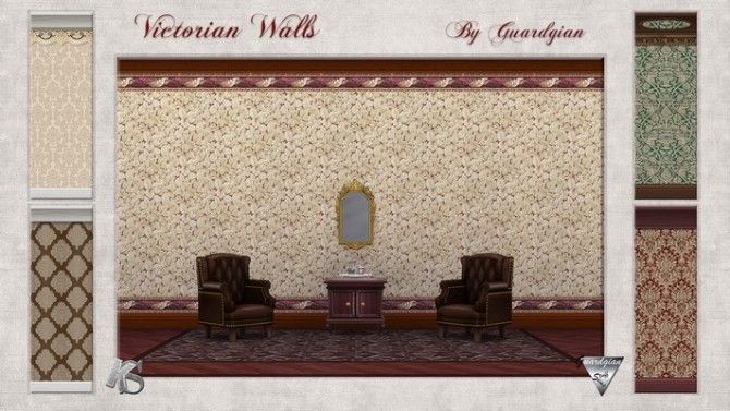 Victorian walls by Guardgian at Khany Sims image 2061 670x377 Sims 4 Updates