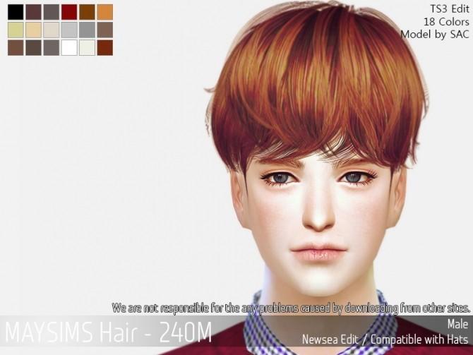 Sims 4 Hair 240M (Newsea) at May Sims
