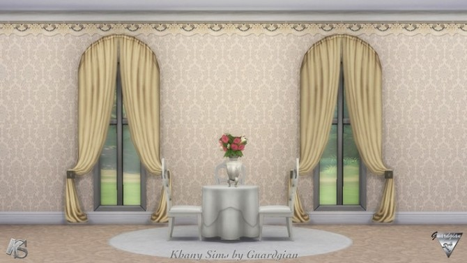 Victorian walls by Guardgian at Khany Sims image 2111 670x377 Sims 4 Updates