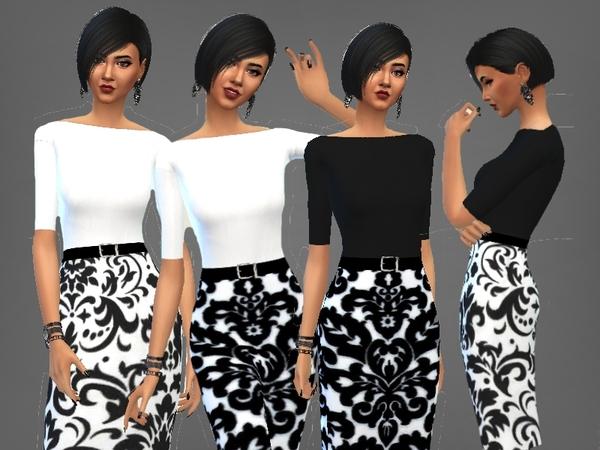 Sims 4 MOM DRESS by Mattia Belles Choses at TSR