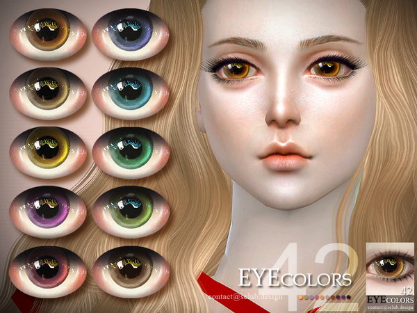 Sims 4 Eyecolor 42 by S Club LL at TSR