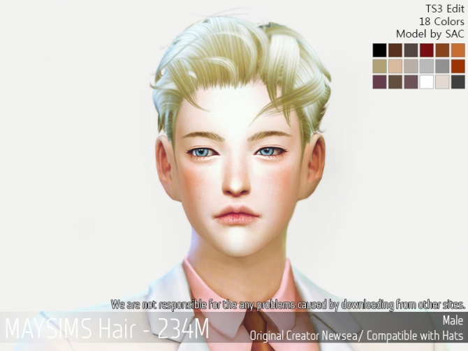 Hair 234m Newsea At May Sims 187 Sims 4 Updates