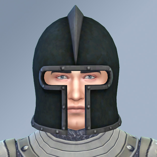 Sims 4 SIMS MEDIEAL HELMET CONVERSION by Anni K at Historical Sims Life