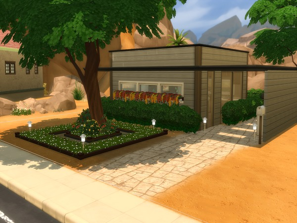 Autumn Air 8x8 Cubic House by PxiPlays at TSR image 2219 Sims 4 Updates