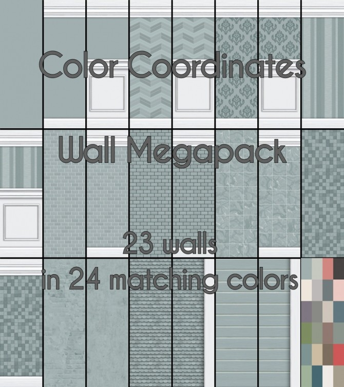 Coordinating Colors Part 1: Walls by Madhox at Mod The Sims image 22261 670x754 Sims 4 Updates