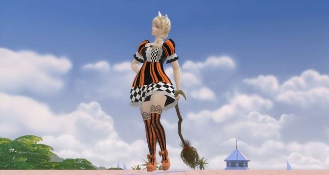 Sims 4 Witch's Broom and 6 Poses at Caramelize