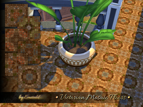 Victorian Mosaic Floors by emerald at TSR image 2236 Sims 4 Updates