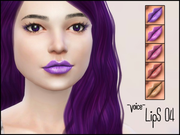 Sims 4 Voice Lips 04 by lancangzuo114 at TSR