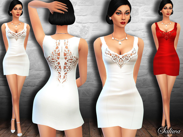 Sims 4 Style Lace Dress by Saliwa at TSR