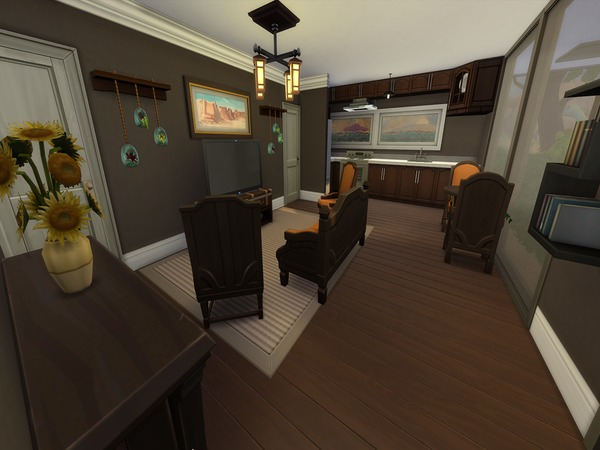 Autumn Air 8x8 Cubic House by PxiPlays at TSR image 2318 Sims 4 Updates