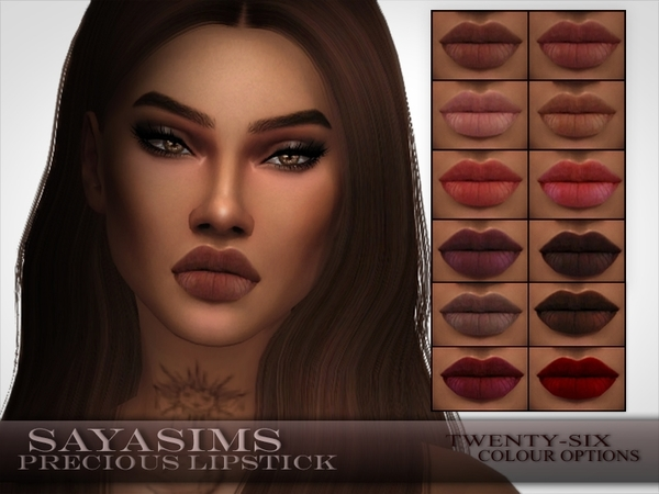 Sims 4 Precious Lipstick by SayaSims at TSR