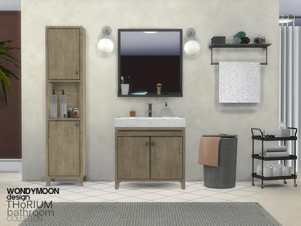 Sims 4 Thorium Bathroom Decorations by wondymoon at TSR