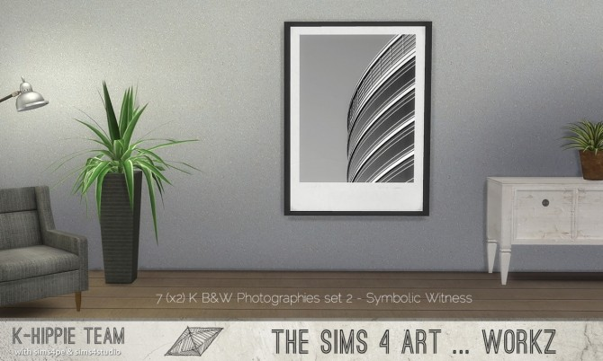 Sims 4 B&W Photographies 7(x2) Artworks set 2 at K hippie