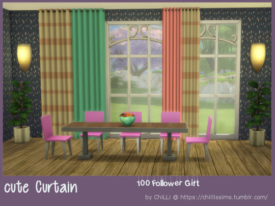 Cute curtain at ChiLLis Sims image 2465 Sims 4 Updates