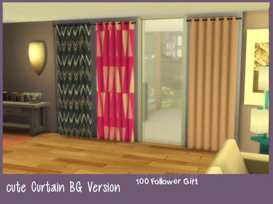 Cute curtain at ChiLLis Sims image 2484 Sims 4 Updates