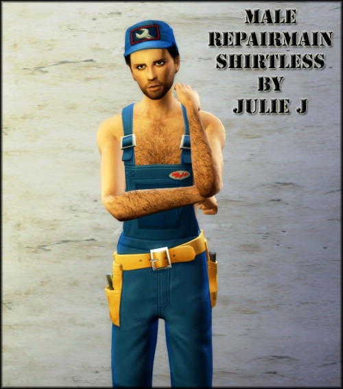 Male Repairman Shirtless outfit at Julietoon – Julie J image 2492 Sims 4 Updates