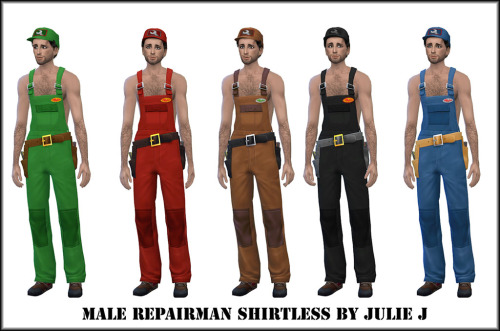 Male Repairman Shirtless outfit at Julietoon – Julie J image 2502 Sims 4 Updates