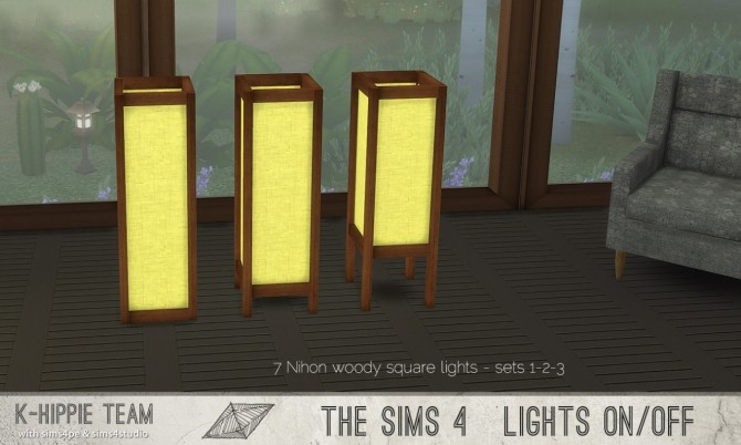7 Nihon Woody Lamps set 1 to 3 at K hippie image 2503 670x402 Sims 4 Updates