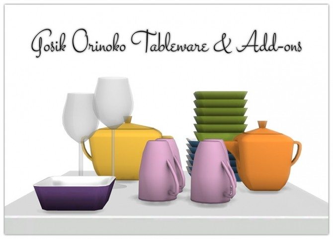 Sims 4 Orinoko Dishes and Add ons at 13pumpkin31