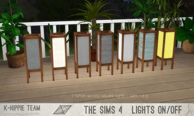7 Nihon Woody Lamps set 1 to 3 at K hippie image 2517 670x402 Sims 4 Updates