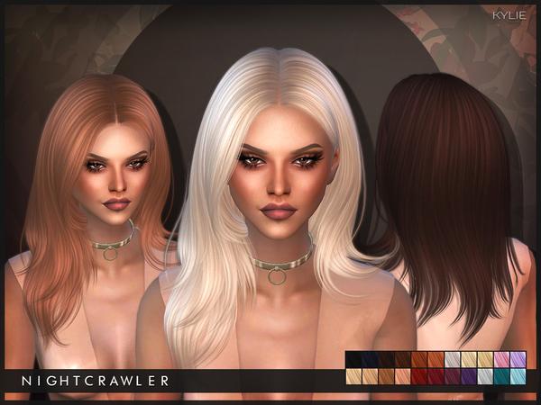 Sims 4 Kylie hair by Nightcrawler at TSR