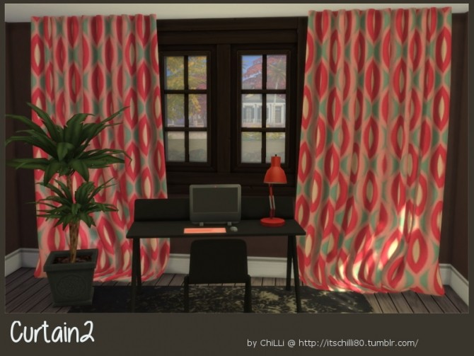 Curtains 2 at ChiLLis Sims image 2576 670x503 Sims 4 Updates