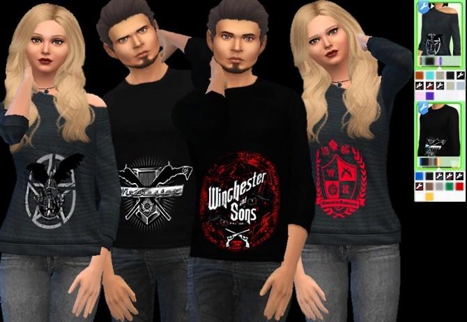 Sims 4 Supernatural shirts at Aurimon