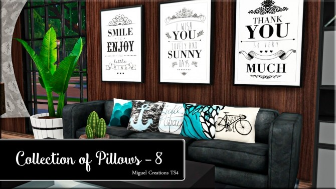 Sims 4 250 pillows set at Victor Miguel