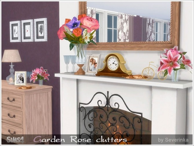 Sims 4 Garden Rose clutters at Sims by Severinka