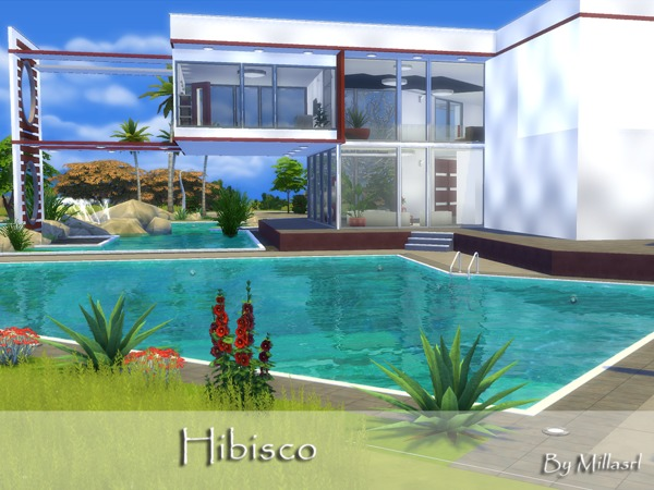 Sims 4 Hibisco house by millasrl at TSR